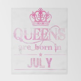 Birth-Month-Tshirt.-Happy-July-T-Shirt-For-Women.-Cool-Gifts Throw Blanket
