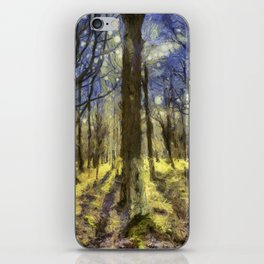 Peaceful Forest Van Gogh iPhone Skin