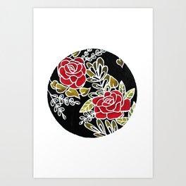 Floris noctis: rosae Art Print