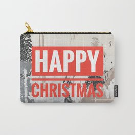 Snowfall - Happy Christmas Carry-All Pouch