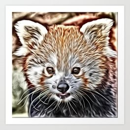 Impressive Animal - red Panda Art Print