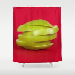 Sliced up. Shower Curtain