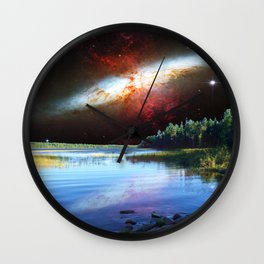 Galaxial Plume in the skies over Itasca State Park Wall Clock