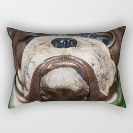 Detail of the muzzle of a bulldog dog in a comic style Rectangular Pillow