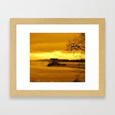 Glorious Evening Framed Art Print