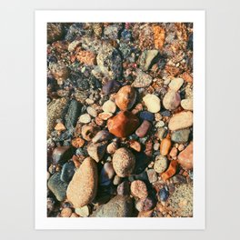 Ocean Pebbles Art Print