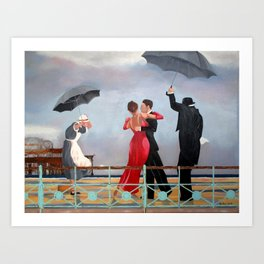 The Singing Butler in Brighton Art Print