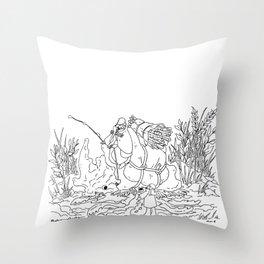 Beetle Carrier Throw Pillow