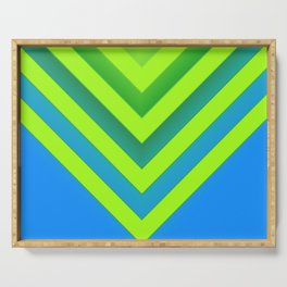 Sky & Lime Chevron Serving Tray