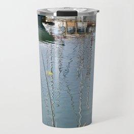 Boats Reflections Water Travel Mug