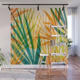 Golden Tropics / Abstract Tropical Illustration Wall Mural