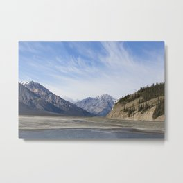 Lake Kluane Metal Print