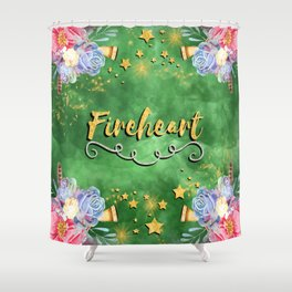 Fireheart Shower Curtain