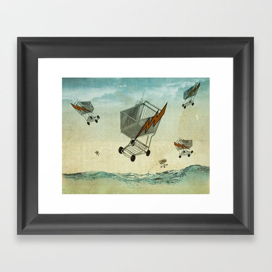 raining trolleys Framed Art Print