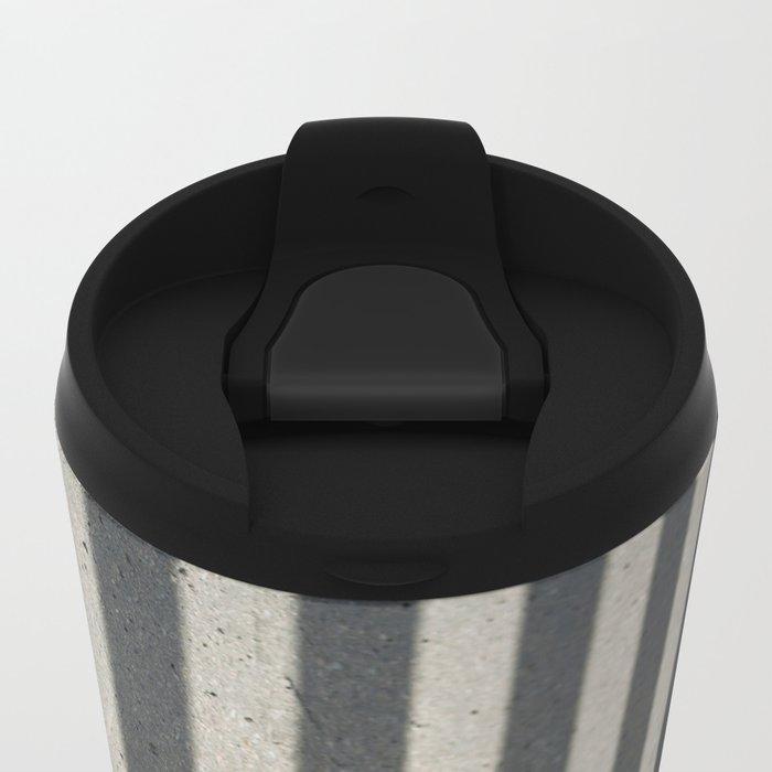 Rubik shading stripes Metal Travel Mug