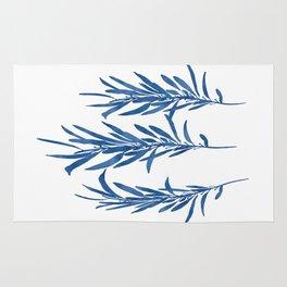 Eucalyptus Branches Blue Rug