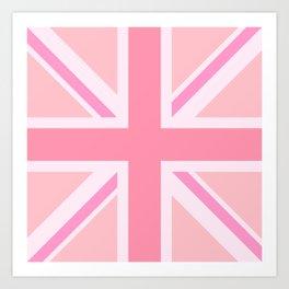 Pink Union Jack/Flag Design Art Print