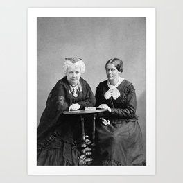 Elizabeth Cady Stanton and Susan B. Anthony - Napoleon Sarony Art Print