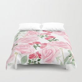 pink rose patterns Duvet Cover