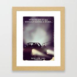 vintage 1980s car ad Framed Art Print