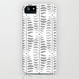 Helecho grey & white iPhone Case