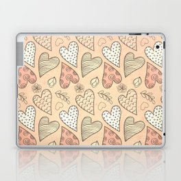 Pattern With Hearts Laptop & iPad Skin
