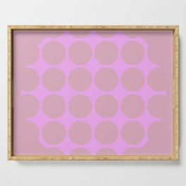 WILLOW - Pink Mid Century Modern Graphic Design Pattern Serving Tray