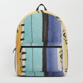 Jewel Tone Striped Pattern Backpack