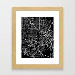 santa ana map california Framed Art Print