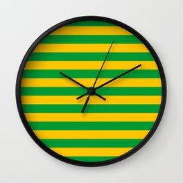 Mauritania Macau flag stripes Wall Clock
