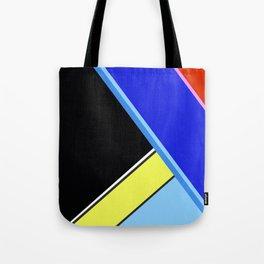 Happy Hues Modern Colorblock Pattern - Black Tote Bag