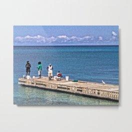 Four fishermen, Frederiksted, St. Croix, USVI Metal Print