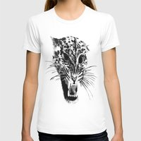 snow leopard T-shirts featuring Snow Leopard by pbnevins