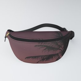 palm tree, night, sky, branches Fanny Pack
