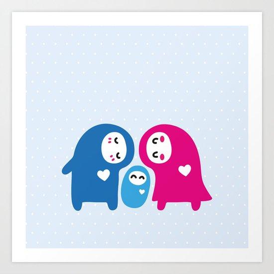 Lovely Family Art Print