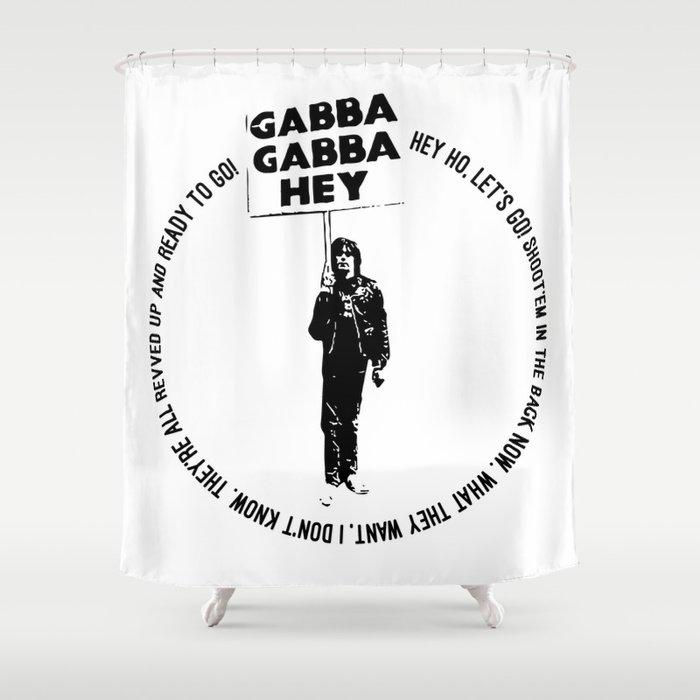 Blitzkrieg Bop O Punk Rock Lyrics Shower Curtain
