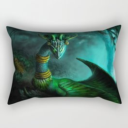 Aztec dragon (older work) Rectangular Pillow