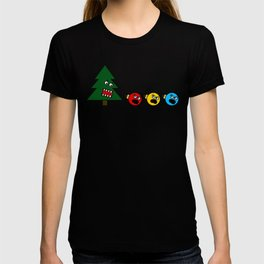 Christmas Tree Chasing Ornament Munchies T-shirt