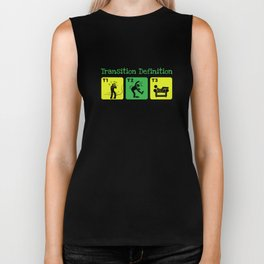 Transition Definition Struggle in Transition Funny Triathlon Biker Tank