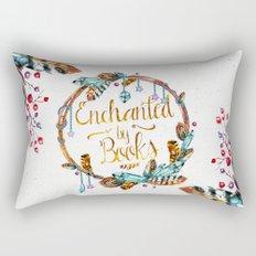 Enchanted by Books Rectangular Pillow
