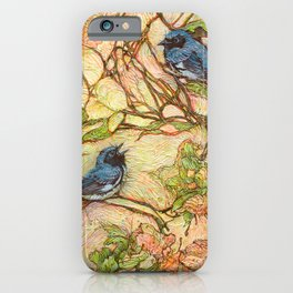 Lullaby (Black Throated Warblers) iPhone Case