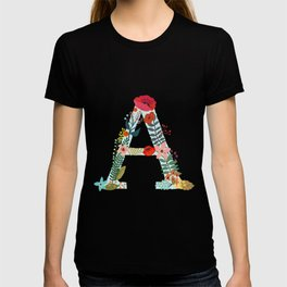 Monogram A. Letter. Initial. Typography T-shirt