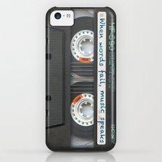 Cassette iPhone - Words Slim Case iPhone 5c