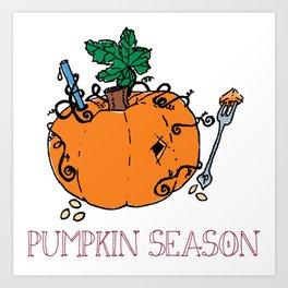 Eat Drink Pumpkin Season Art Print