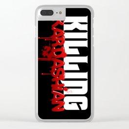 Killing Kardashian Title Logo Clear iPhone Case