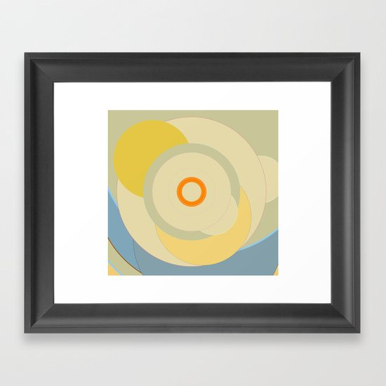 Simple circle pattern Framed Art Print