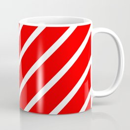 Diagonal lines - red and white. Coffee Mug
