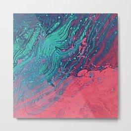Living Coral Contrast Atoll - Ocean Color Metal Print