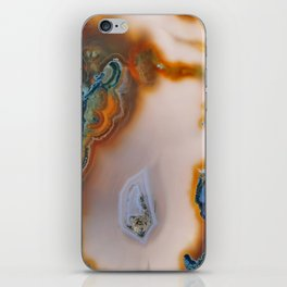 Translucent Teal & Rust Agate iPhone Skin