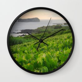Grapevines and islet Wall Clock